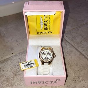 Invicta ladies angel watch NWT rubber band